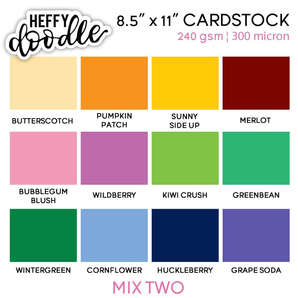 "8.5"" x 11"" Coloured Cardstock 5 Pack"