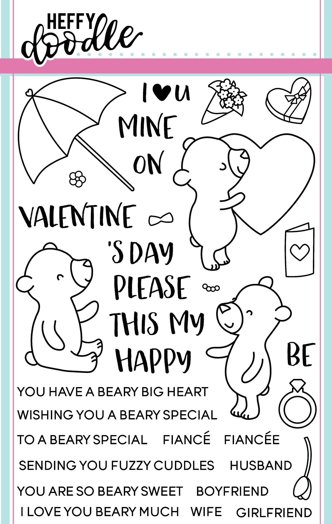Beary Big Heart Clear Stamp Set