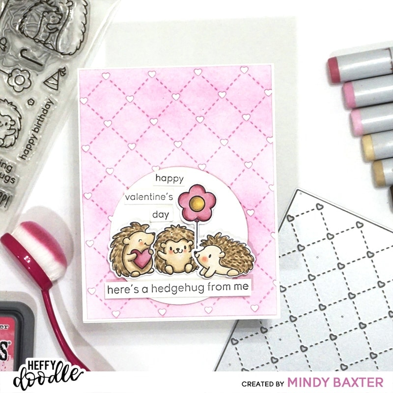 Quilted Heart Background Die