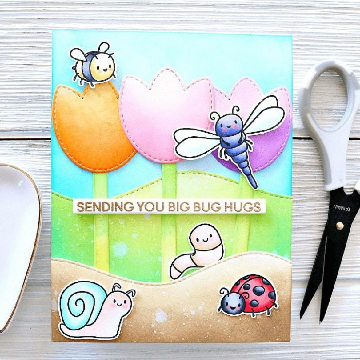 Big Bug Hugs Clear Stamps