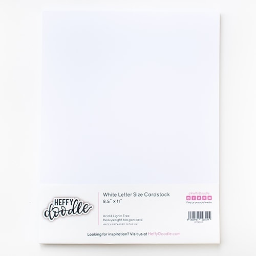 "8.5"" x 11"" White Cardstock (20 Sheets)"