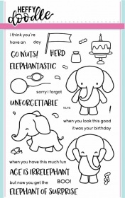 Elephant of Surprise Clear Stamp Set