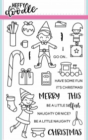 Elfish Antics Clear Clear Stamp Set