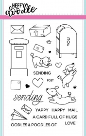 Yappy Happy Mail stamp set