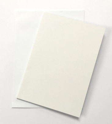 A6 White Card and Envelope