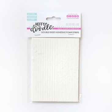 Double Sided Adhesive Foam Strips - 3mm Deep