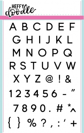 Jet Alphabetters Clear Stamp Set