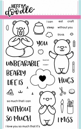 Unbearable Without You Clear Stamp Set