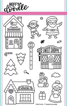Santa's Village Clear Stamp Set