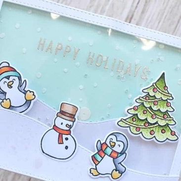 Holiday Sentiment Duos Clear Stamp Set