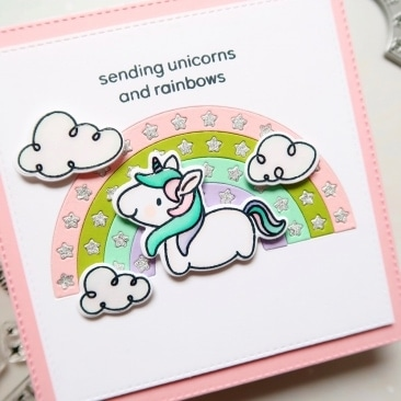 Fluffy Puffy Unicorns Stamps