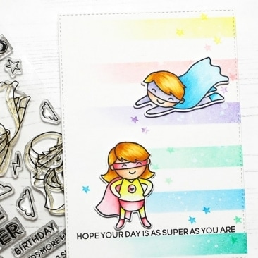 Superdudes Clear Stamps