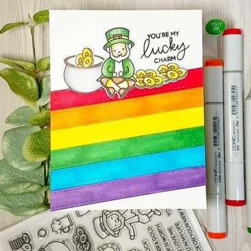 Lucky Friends Clear Stamp Set
