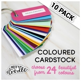 "8.5"" x 11"" Coloured Cardstock 10 Pack"