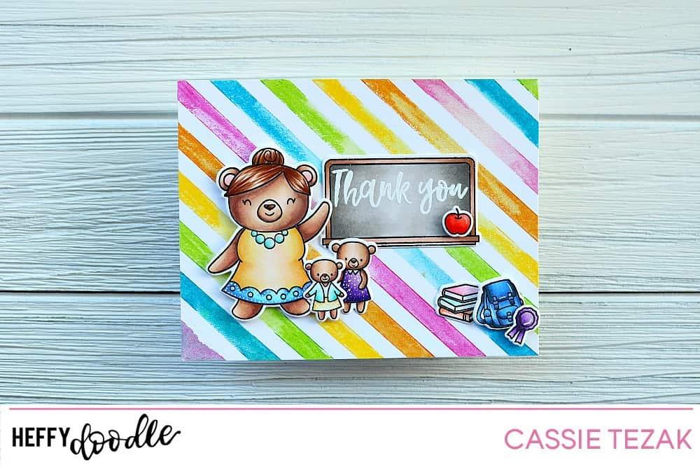 Handmade Thank you Best Teacher Pencil//Crayon Card