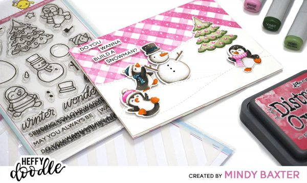 Creating Plaid with a Striped Stencil + Copic Coloring with Mindy Baxter