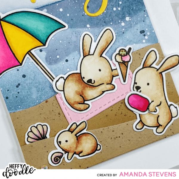 Amanda Stevens Honey Bunny Boo Beach Bunny Card